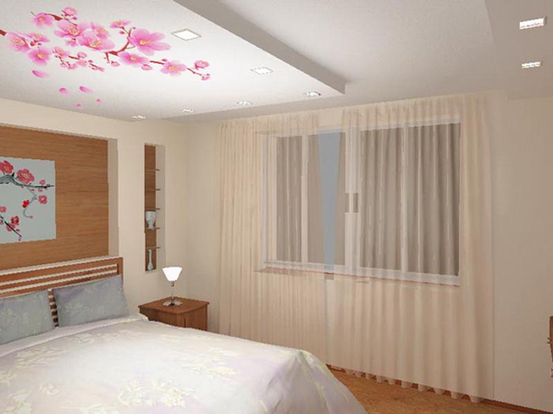 Дизайн потолков подвесных для спальни