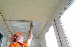 как отделать потолок в лоджии