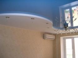 что такое двухуровневые натяжные потолки