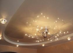 Как устанавливают точечные светильники для натяжных потолков