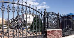 забор металлический, кованый