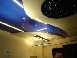 Многоуровневые потолочные конструкции натяжного типа