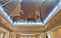 Натяжные потолки при отделке отеля
