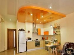 Навесные потолки в кухне