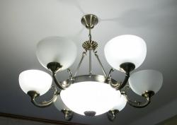 крепление люстры на потолок - ж/б плита