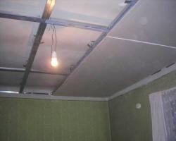 Ремонт потолков из ГКЛ в квартире