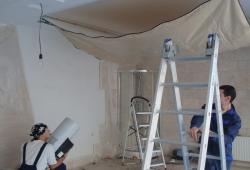 Как установить тканевый натяжной потолок