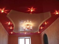 светильники в натяжной потолок